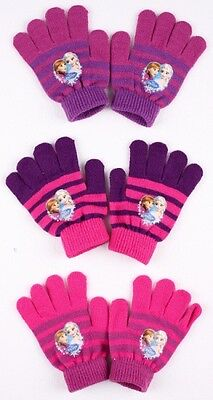Disney Frozen 'Elsa & Anna' Knitted 3 Assorted One Size Gloves