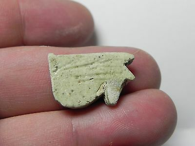 ZURQIEH -af180- ANCIENT EGYPT , FAIENCE UDJAT EYE AMULET , 600 - 300 B.C