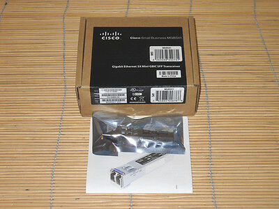 NEU CISCO MGBSX1 1000BASE-SX SFP transceiver for Linksys NEW OPEN BOX