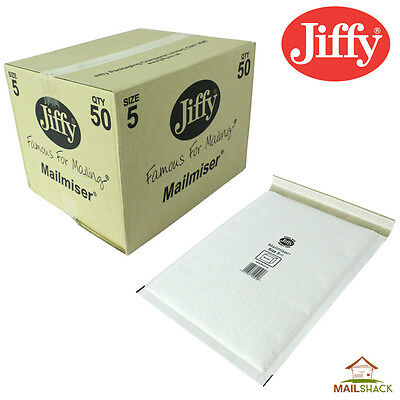 50 H5 A4 Mail Lite Sealed Air White BUBBLE-PADDED Envelopes Bags 270x360mm Post