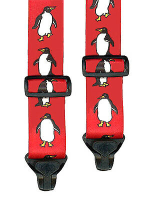 Kids Penguin Ski Pant Suspenders - 2 Sizes For Better Fit - Non Metal Clips Nwot