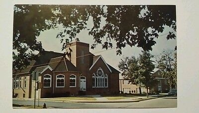 Vintage view of St John's Methodist Church in Seaford,  Delaware - postcard