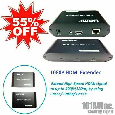 1080P HDMI Ethernet Cable Extender extend HDMI AV signal to 120m over Cat5e/6/7
