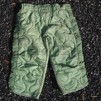 Medium-Short US Army M65 Quilted Insulated Pant Liner New