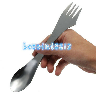 Camping Hiking Travel Utensil Spork Combo Travel Gadget Spoon Fork Knife Cutlery