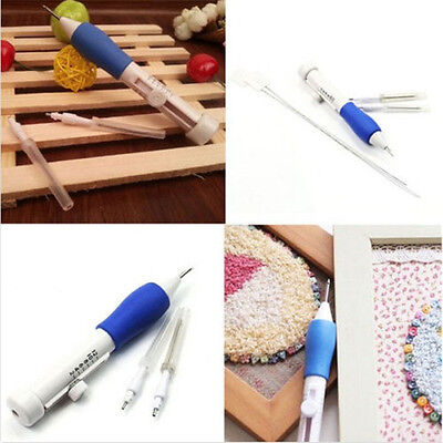 1 Set Fine Sewing Embroidery Stitching Punch Needle DIY Craft Tool  Threader