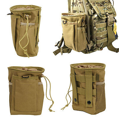 Military Molle Belt Tactical Paintball Magazine Dump Pouch Utility Webbing Bag