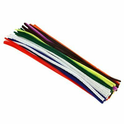 Craft Chenille Stem 300mm x 4 mm Pipe Cleaners, Assorted Colours pack of 100