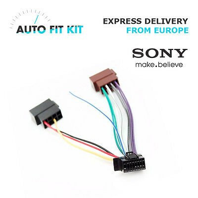 SONY ISO WIRING Harness adapter loom plug lead CDX-G3150UP DSX-A40UI Harness Sony Wire Cdx Adapter G Up on
