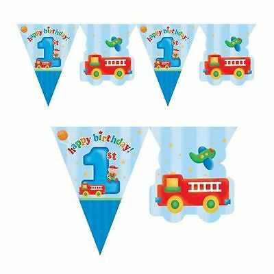 Fun At One Flag Banner Boy First Birthday Party Blue Decoration