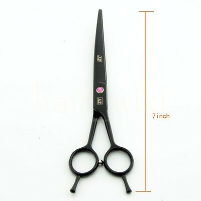 7 inch Pet Dog Grooming Scissors Shear Upward Curved Hair Cut Beauty Black Paint