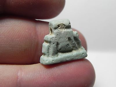 ZURQIEH -af209- ANCIENT EGYPT , FAIENCE SOW AMULET , 600 - 300 B.C