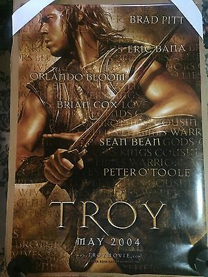 TROY Original Authentic 27x40 D/S Rolled Movie Poster. BRAD PITT