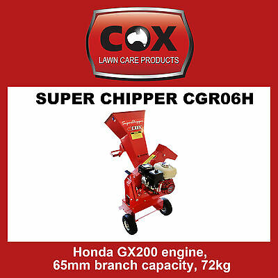 Cox Super Chipper Shredder / Mulcher - SAVE $500.00 off RRP