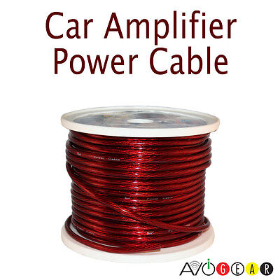 New Premium 15 Feet 4 Gauge Car Audio Power/Ground Cable Wire 4 AWG Red 4.57M