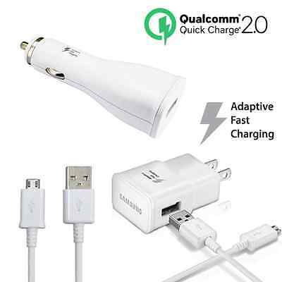 Samsung Quick Charge 2.0 Car Wall Travel Charger (Adaptive Fast Charging)