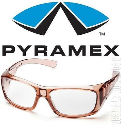 Pyramex Emerge Brown Clear Safety Glasses Motorcycle Shatterproof Z87+