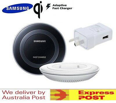 Genuine Samsung Wireless Charging Pad FAST Charger QI Galaxy S6 S7 Edge Plus