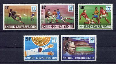 s5279)CENTRAFRICAINE REP. 1978 MNH** W.C. Football - Coppa del Mondo Calcio 5v.