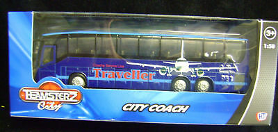 New Teamsters City Coach Toy Model Vehicle. Service Line Traveller. Blue
