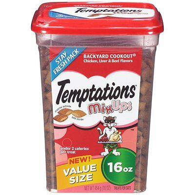 TEMPTATIONS MixUps Cat Treats by Temptations (Chicken, Liver, Beef) 16 oz. (AOI)