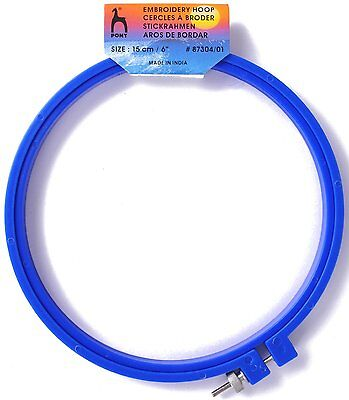 Hoop Pony Embroidery plastic Hoop  for cross Stitch 15 cm Blue  87304/01