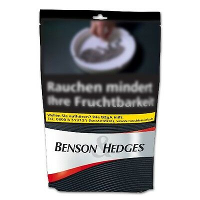 6 x 170g Benson & Hedges Black Volumentabak Beutel