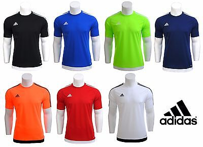 Mens Adidas Climalite Crew Training Gym Football Running Sport T Shirt Top S-XXL