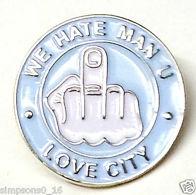 Manchester City Pin Badge Hate United Badges