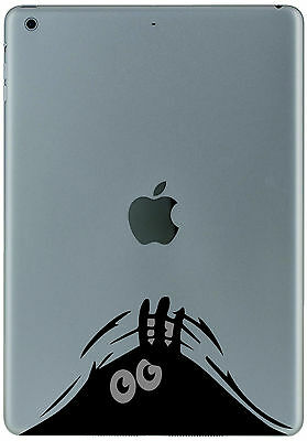 350 Ipad Mini Air  BLACK FUNNY CRITTER Sticker Decal Tablet Customize  your iPad