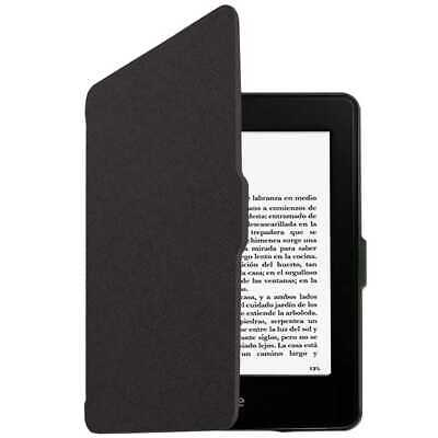 "Funda Libro con tapa para Kindle Paperwhite 6"" Piel Negro Case Cover E-book Eco"