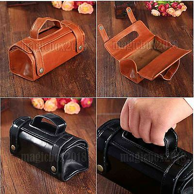 Mens Travel Toiletries Cosmetic Bag leather Shaving Wash Toiletry Case Organizer