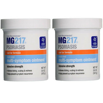2 Pack MG217 Medicated Multi-Symptom Ointment, Intensive Strength 3.8 oz Each