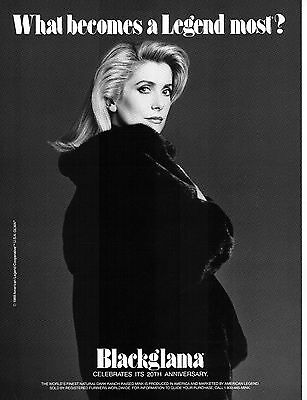 Vintage BLACKGLAMA Print Ad w/ CATHERINE DENEUVE Proof - Mint