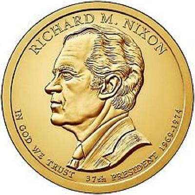 2016 Richard M Nixon 37Th President Bu Dollar 2 Coin Set 1P &1D