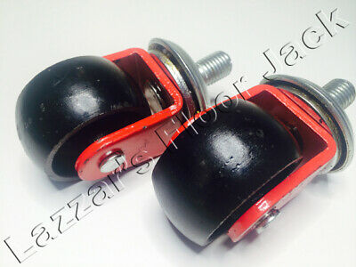 Floor Jack Casters (2 Piece Set), Fits Many, All Steel