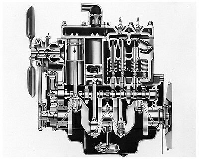 1951 Kaiser Henry J Engine Factory Photo ca4049