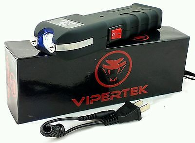 VIPERTEK VTS-989 Self Defense Stun Gun 180 Billion Volt Rechargeable + Holster