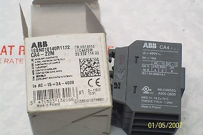 *new* Abb Auxiliary Contact Block Ca4-22M, Ca422M