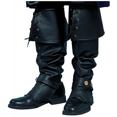 Pirate Boot Covers Adult Cosplay Costume Fancy Dress Boot Tops