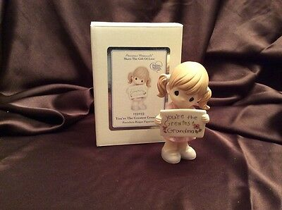 Precious Moments Figurine, Girl Holding Greatest Grandma Sign Mother's Day Gift