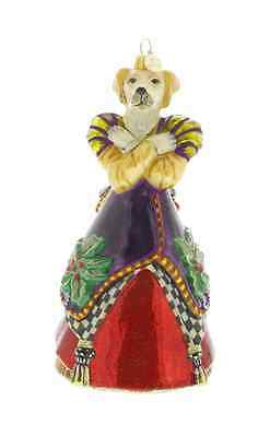 MacKenzie-Childs Christmas Ornament Hazel Hound-Chicken Palace Ball Collection