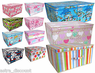 Jumbo Kids Childrens Foldable Toy Books Clothes STORAGE Box CHEST Trunk Bedroom