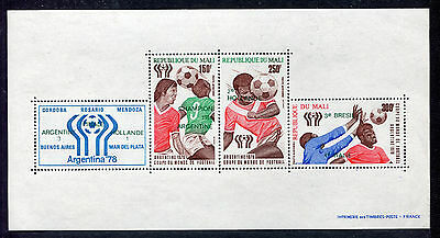 s5391) MALI 1978 MNH** World Cup Football - CM Calcio S/S OVPTD WINNERS