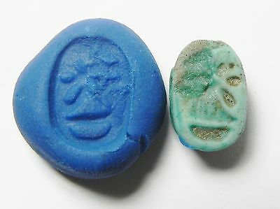 Zurqieh -Af294- Ancient Egypt , New Kingdom Stone Scarab. 1400 B.c