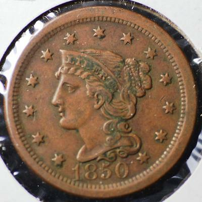 1850 United States Braided Hair, Large Cent, FREE SHIPPING!! LCB14