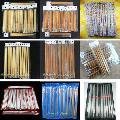 New Double Pointed Knitting Needles Carbonized Bamboo Stainless Craft Knit Tools