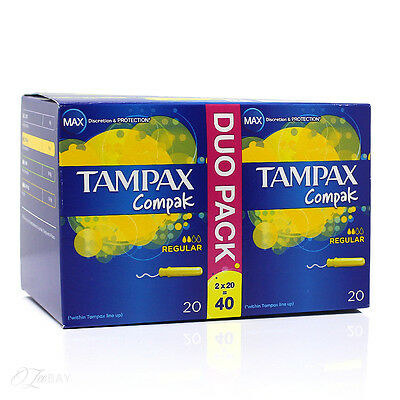 Tampax Compak Applicator Regular 40 Tampons