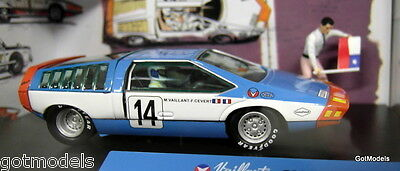 Michel Vaillant cartoon 1/43 scale diorama Valliante Rush model car + figures