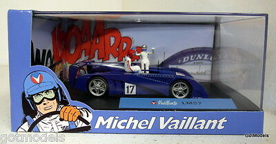 Michel Vaillant cartoon 1/43 scale diorama Valliante Le Mans 07 model car